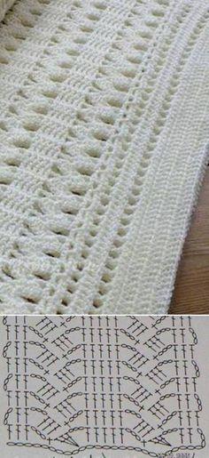 38 Ideas For Crochet Patrones Mantas Bebe Crochet Motifs, Crochet Diagram, Crochet Stitches Patterns, Crochet Chart, Love Crochet, Crochet Granny, Baby Blanket Crochet, Crochet Designs, Crochet Doilies