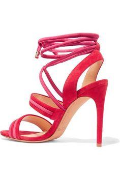 Alexandre Birman - Aurora Suede Sandals - Red - IT