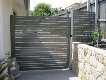 Argus Aluminium Slat Fencing & Gate Panel - Banks
