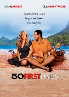 50 First Dates (Widescreen) on DVD from Sony Pictures Home Entertainment. Directed by Peter Segal. Staring Drew Barrymore, Adam Sandler, Rob Schneider and Sean Astin. More Comedy, Romance and Movies DVDs available @ DVD Empire. Drew Barrymore, See Movie, Movie Tv, Adam Sandler Movies, Bon Film, Film Le, Movies Worth Watching, Romantic Movies, Romantic Scenes