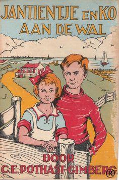 Jantientje en Ko aan de wal. Schrijver: C.E. Pothast - Gimberg.  In 1941 uitgegeven door de Arbeiderspers - Amsterdam