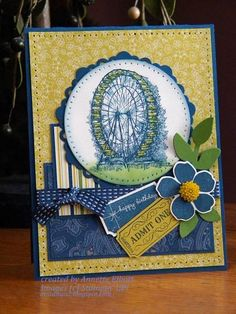 MOJO283 Admit One for Happy Birthday by AEstamps2 - Cards and Paper Crafts at Splitcoaststampers