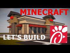 Minecraft: Chick-Fil-A Tutorial Minecraft City Buildings, Minecraft Videos, Minecraft Construction, Minecraft Tutorial, Tutorials, Projects, Youtube, Log Projects, Blue Prints