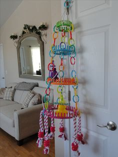 Peppins Rainbow Falls, hoop hanger, toy holder that I made:)