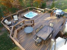 Building A Deck 209276713920070560 - 17007 Madrillon Way, Accokeek, MD 20607 Whirlpool Deck, Backyard Patio Designs, Patio Ideas, Deck Railing Ideas Diy, Backyard Decks, Decking Ideas, Pergola Patio, Backyard Landscaping, Hot Tub Backyard