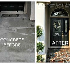 {DIY Painted Stone-Effect Concrete Patio!}