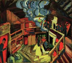 Titolo dell'immagine : Ernst Ludwig Kirchner - Max Beckmann, Ernst Ludwig Kirchner, Perspective Art, Vanishing Point, Famous Artists, Painters, Figurative, Modern Art, Germany