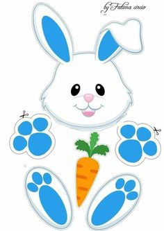 Bunny Crafts, Easter Crafts For Kids, Diy For Kids, Bunny Ears Template, Easter Bunny Colouring, Easter Bunny Ears, Clip Art Pictures, Easter Activities, Collage Sheet