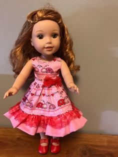 Its a love bug thing Dress for 14.5 inch by Seamstress4littles