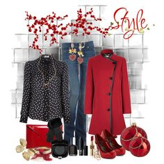 """""""red style"""" by ntina36 on Polyvore"""