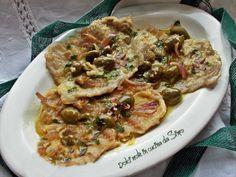 Fettine di vitello con cipolle e olive