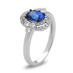 3ea0f4a188adc2 Barsky Diamonds - Bassali Persephone Sapphire and Diamond Ring, $2,060.00  (https://