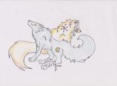 Moon and Sun Wolves