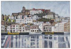 """""""Eivissa des del mar"""", oli sobre tela, 60,5 x 88,5 cm. 1949-54 - Museum of Montserrat"""