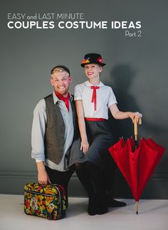Mary Poppins costume for couples @Britney Wood, have you two ever done this before? It would be so perfect!