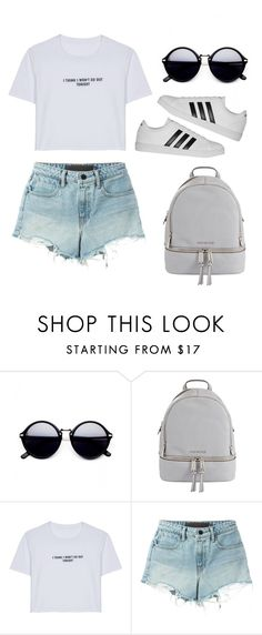"""Casual"" by guille-ballesteros ❤ liked on Polyvore featuring MICHAEL Michael Kors, WithChic, T By Alexander Wang, adidas and vintage"