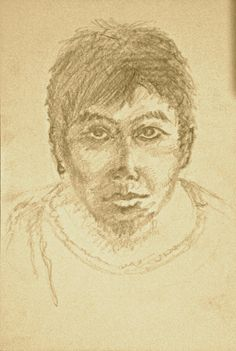 """Self Portrait"" _pencil hand sketch by Clemens Rodney"
