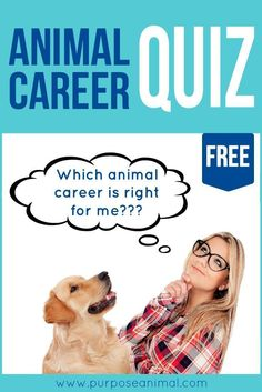 Check out this awesome FREE ANIMAL CAREER QUIZ! Submit your answers and get a CU. - You are in the right place about future career quiz Here we offer you the most beautiful pictures about the free c Future Career Quiz, New Career, Career Change, Future Jobs, Veterinarian Career, Animal Quiz, Animal Care, Animal Communication, Wildlife Biologist
