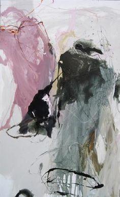 Laurence Garnisson, 80 M Rose, 2009, 146 x 89 cm, huile et medium sur toile.
