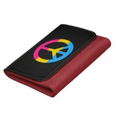 Pansexuality flag peace sign Wallet