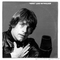 Star Wars (Luke Skywalker) / David Bowie Heroes Album Cover Mash Up Parody by Whythelongplayface   #davidbowie #bowie #heroes  #starwars #thelastjedi #lastjedi #jedi #tshirt #mashup #photoshop #parody #albumcover #album #cover #lp #record #vinyl #scifi #nerd #music #movie #geek #lukeskywalker #hansolo #princessleia #r2d2 #c3po #darthvader #chewbacca #harrisonford #carriefisher #markhamill #daisyridley #johnboyega #whythelongplayface