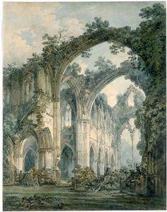 William Turner, Inside Tintern Abbey, Monmouthshire, about 1794.Irish artist