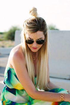 Introducing the ''Hun'' (Half-Bun) Hairstyle! Photo gallery & Video tutorial! | The HairCut Web!