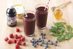 Welch's Purple Sunshine Smoothie recipe - nutritious smoothie with the delicious grape flavor of Welch's grape juice Power Smoothie, Smoothie Packs, Juice Smoothie, Smoothie Recipes, Juice Recipes, Fruity Drinks, Yummy Drinks, Yummy Food, Tasty