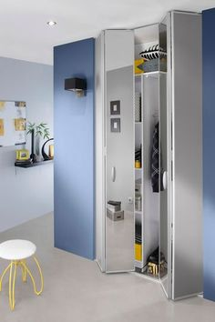 Porte de pliante avec miroir argent plooideur spiegel zilver interior pin - Portes dressing ikea ...