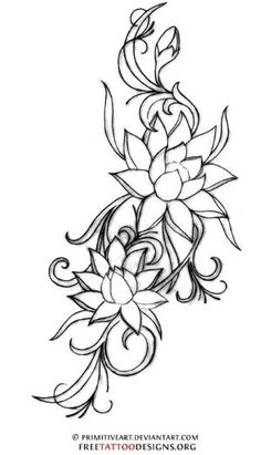 lotus flower tattoo. A lotus to represent a new beginning, or a hard time in life that has been overcome. by Lenkumi