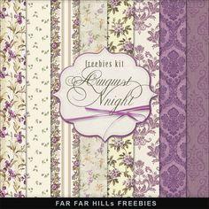 Far Far Hill: New Freebies Kit of Paper - August Night