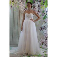 tyll a-line brud bröllopsklänningar