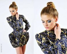 dress Gabriela Hezner  fashion coctail dress , awangarda  fot. Darek Stawski model Nicole / D' Vision agency https://www.facebook.com/pages/Gabriela-Hezner-Designs/173112606072708?ref=bookmarks