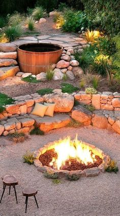 A fire pit would be nice... but it's not going to be such a fancy one ;-)