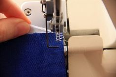 Tutorial: Secure thread ends on a serger or overlocker