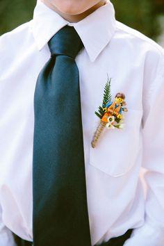 Wedding boutonniere - A true lego fan.