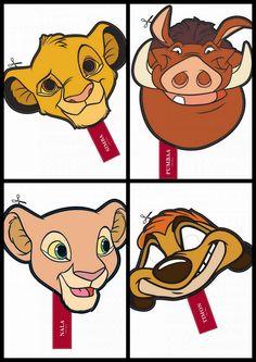 The Lion King Free Printable Masks.