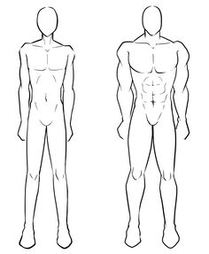 Male body, skinny, muscular; How to Draw Manga/Anime