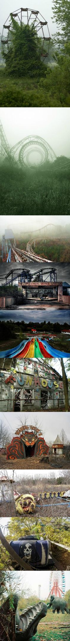 Creepy Looking Abandoned Theme Parks