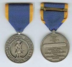The OMSA Medal Database - Exceptional Service Medal - Oregon National Guard - OMSA