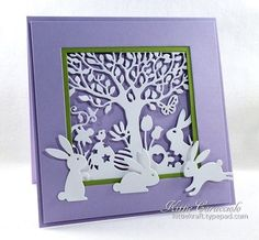Easter Cutout Square and Bunnies