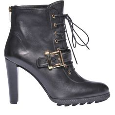 Stuart Weitzman Quinn Lace-Up Ankle Boots ($310) ❤ liked on Polyvore featuring shoes, boots, ankle booties, short boots, lace up booties, platform ankle boots, leather booties and lace up boots