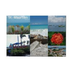 St. Maarten Collage by Khonce Rectangle Magnet (Sold - Nebraska, Ohio, Colorado and California) Thank you!