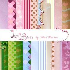 The WeeFaerie Ring: Love Birds Papers