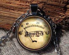 Vintage meter pendant meter necklace meter jewelry by Aranji
