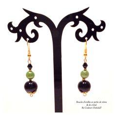 """Boucles d'oreilles """"Jamaika"""" By CCKLT #handmadejewelery, #bijoux, #faitmain, #création"""