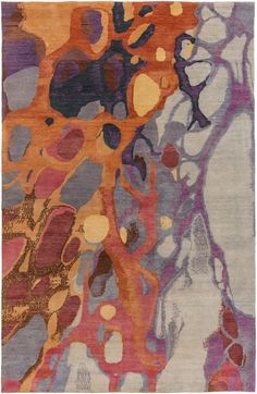 New 'Brought to Light' rug collection by Artist Robert Langford for Surya (BOL-4006).