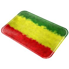 Rasta Lion Of Zion Pot Leaf All Over Glass Cutting Board