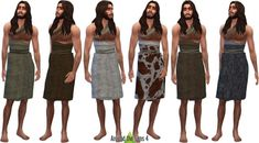 History Challenge CC Prehistoric objects & outfits at Around the Sims 4