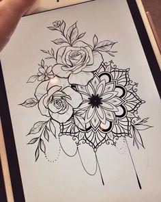 Untitled - Blumen Tattoos - Tattoo World Mandala Tattoo Design, Mandala Arm Tattoo, Mandala Flower Tattoos, Tattoo Henna, Tattoo Designs, Up Tattoos, Tattoo Drawings, Body Art Tattoos, Sleeve Tattoos